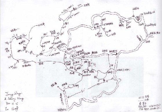 长寿湖导游图手绘